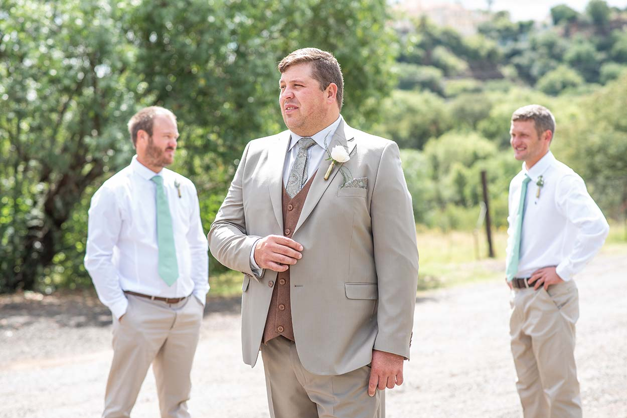 Wedding Photos by Mudboots Photography at Leopard and Lace in Bloemfontein Groomsmen