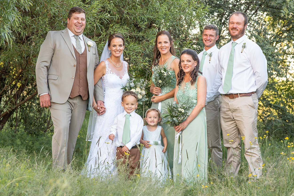 bridal party Wedding Photos by Mudboots Photography at Leopard and Lace in Bloemfontein