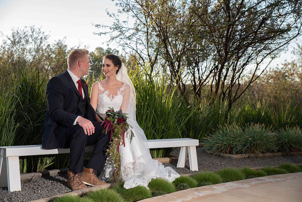 wedding photo by Mudboots at Monte Bello Estate Bloemfontein couple in love