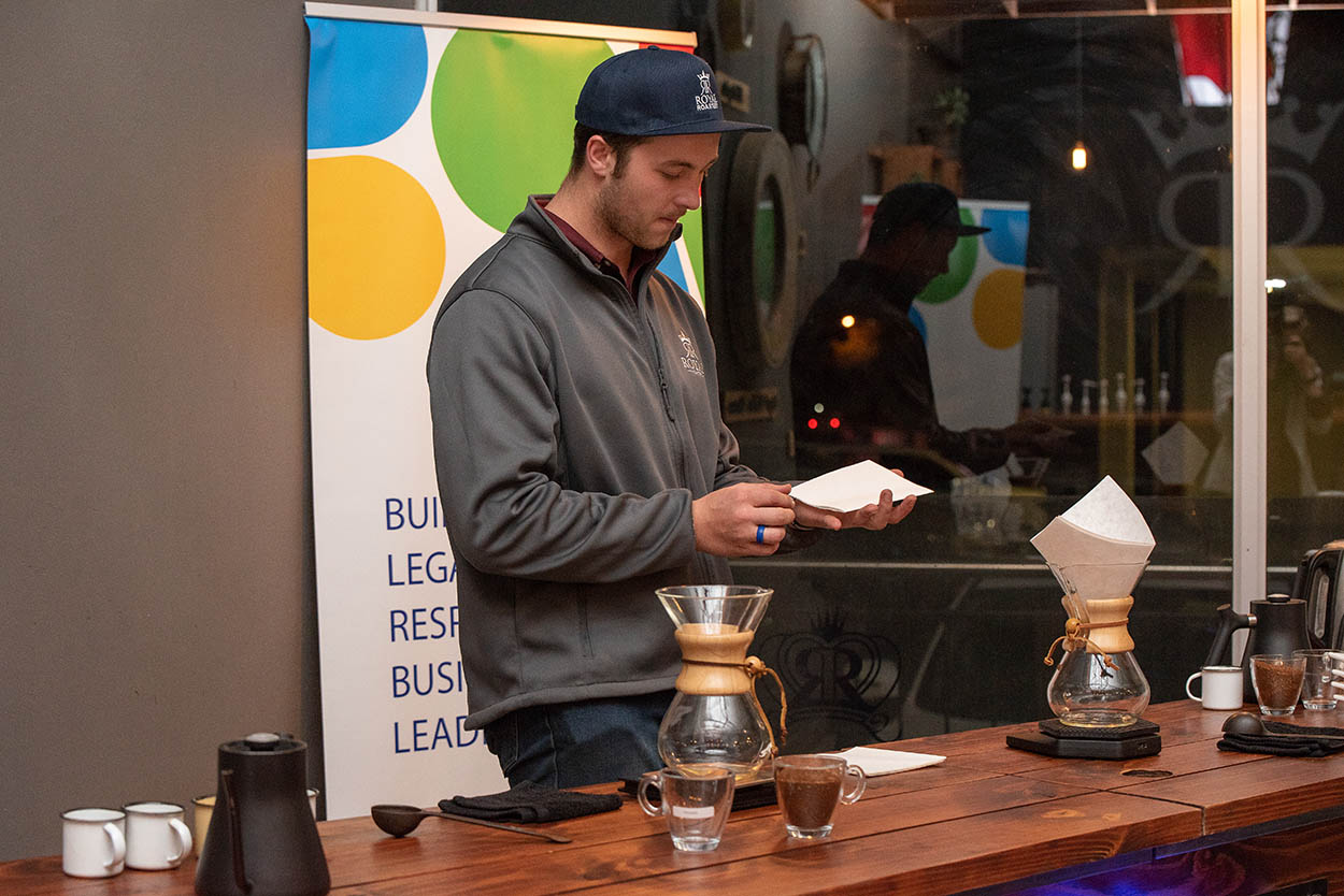 event photography by Mudboots coffee paring Royal roastery corporate photography