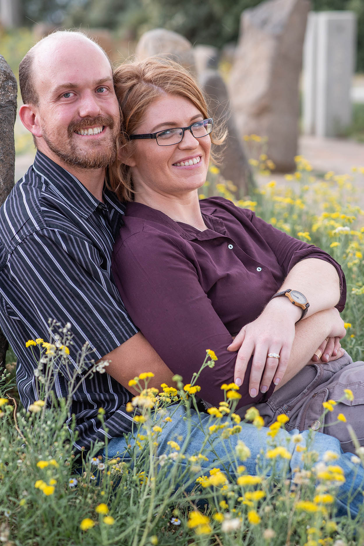 Couple photos on Navil Hill in Bloemfontein by Mudboots Photography.