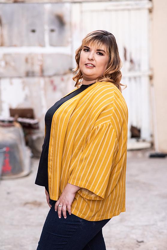women in bloemfontein portrait shoot photos by Mudboots with mustard jacket portrait photos