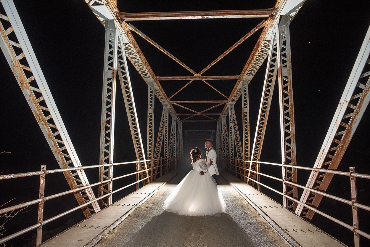 Night photo wedding bloemfontein